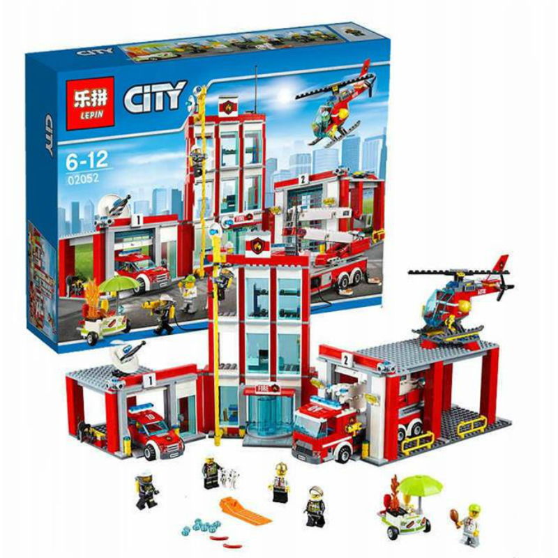 1029pcs City Series The Fire Station Set Compatible 60110 Building Blocks Bricks Educational DIY Toys As