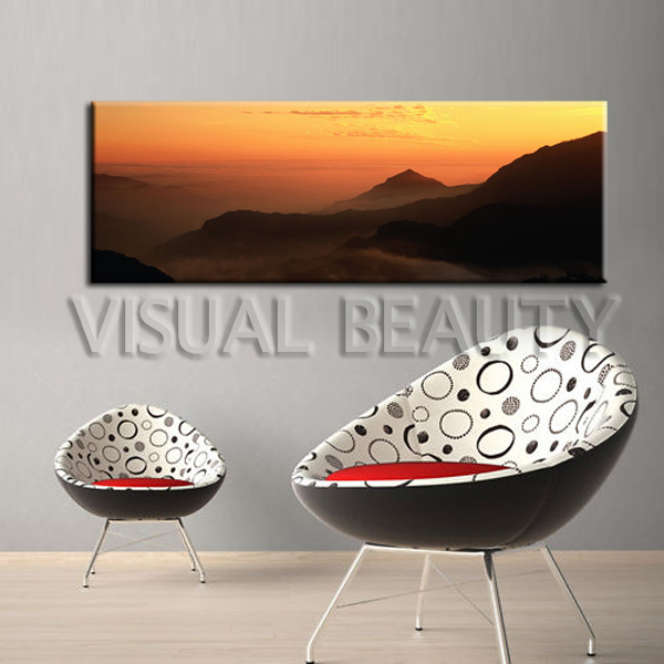 free shipping panoramic wide view landscape painting scenery