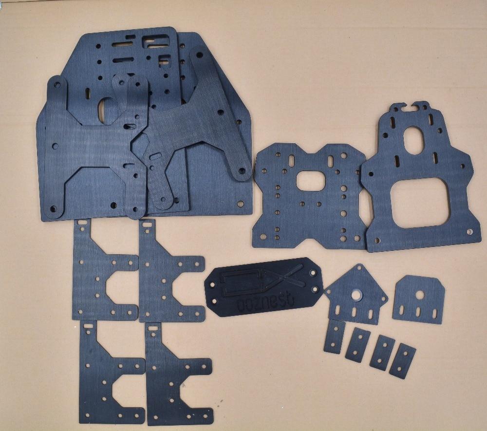 1 jeu de pièces d'imprimante 3d OOZNEST OX plaque de CNC plaque d'aluminium
