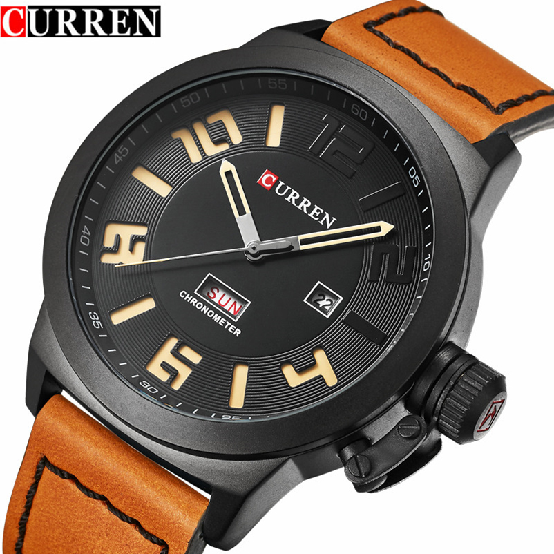 CURREN Watch Men Military Sport Brand Watches Fashion Leather Men's Quartz Wrist Watches Relogio Masculino 8270 Drop Shipping genuine curren brand design leather military men cool fashion clock sport male gift wrist quartz business water resistant watch