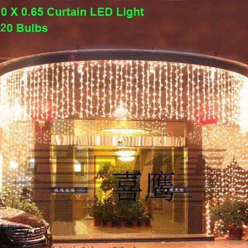 10x0.65 m 360 LED CORDES Guirlandes Icicle Rideau Lumières de Vacances éclairage de Fête De Noël De Mariage Décorations Rideau Lumineux