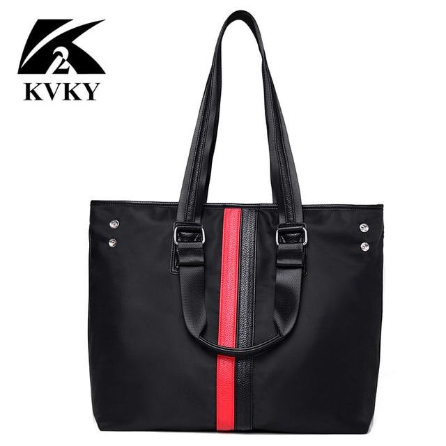 Kvky Handbags Women Nylon Bags Designer Famous Brand High Quality Casual Tote Shoulder Bag