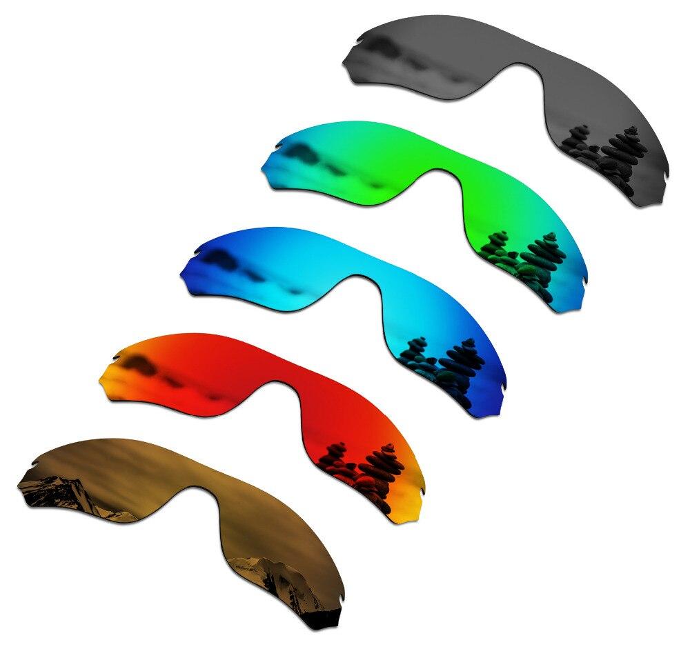 SmartVLT 5 Pieces Polarized Sunglasses Replacement Lenses for Oakley Radar Edge - 5 Colors