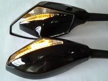 For Motorcycle Kawasaki Ninja 500 636 ZX6RR ZX750 ZX7R ZX9R ZRX ZX10R ZX-12R ER-6F Blue LED Mirror
