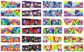 On sale !!    1 Lot=50sheets 12 in one sheet  New Style Nail Art Water Sticker Dazzle colour series  in 2016 for  BN169-180