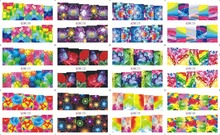 On sale !!    1 Lot=50sheets 12 in one sheet  New Style Nail Art Water Sticker Dazzle colour series  in 2016 for  BN169-180 цена