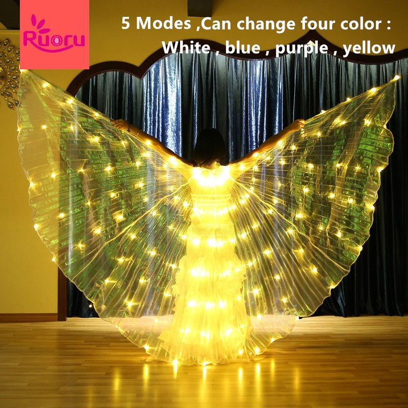 Ruoru Props-Accessories Wings-Change Led-Wings Performance Belly-Dance Led Isis Four-Color