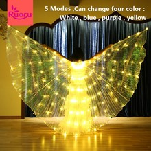 Ruoru 5 modes Belly dance led isis wings change four color stage performance props accessories 360 degree