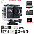 Câmera de Vídeo de ação 2.0 polegada Wi-fi Full HD 1080 P 30fps esporte DV Underwater 30 M Lente de 170 Graus À Prova D' Água mini câmera
