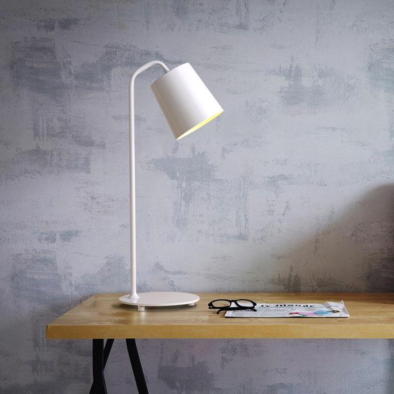 ФОТО The Nordic modern minimalist iron LED lamp creative personality reading book office desk lamp