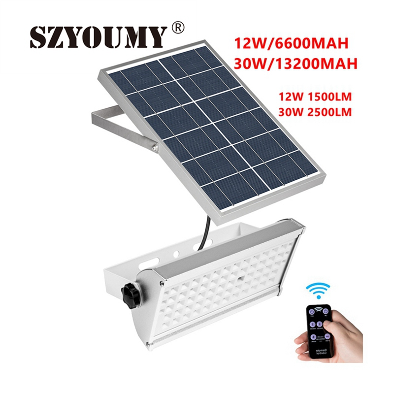 Us 65 7 10 Off Szyoumy Leds Solar Light Super Bright 2500lm 30w Spotlight Wireless Outdoor Waterproof Garden Ed Lamp With Rremote In