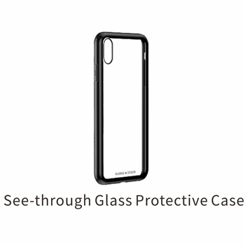 BASEUS Phone Case for iphone Xs 9 9 plus case hard See-through Glass + Soft TPU Hybrid Phone Case for iphone  Xs 9 9 plus coque iPhone XS