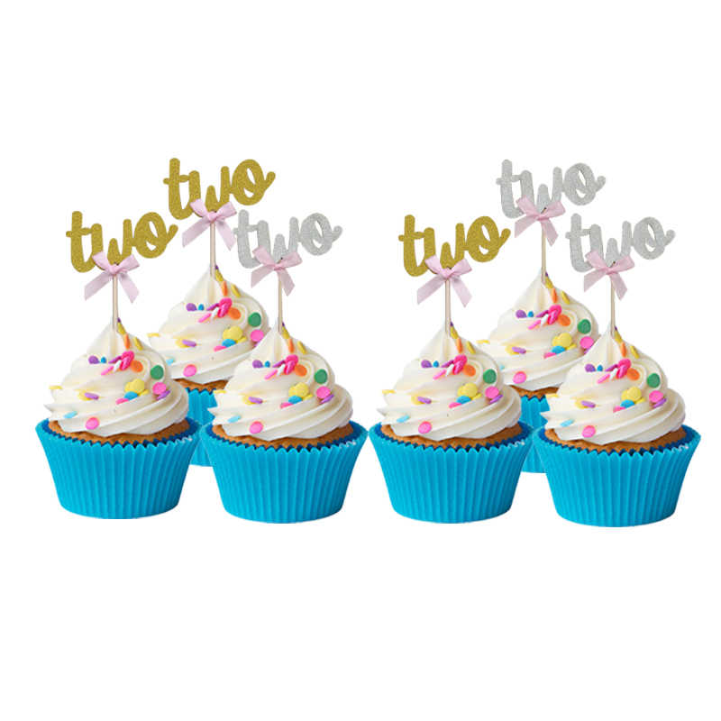 Terrific Chicinlife 10Pcs 2 Years Old Birthday Cake Cupcake Toppers Baby Birthday Cards Printable Inklcafe Filternl