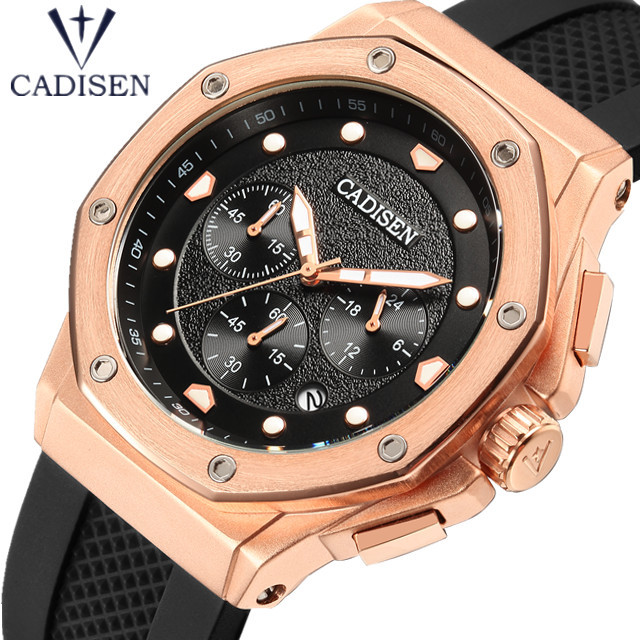 CADISEN Watch Men Fashion Sport Chronograph Clock Mens Watches Top Brand Luxury Silicone Business Waterproof Watch Male Relogio CADISEN Watch Men Fashion Sport Chronograph Clock Mens Watches Top Brand Luxury Silicone Business Waterproof Watch Male Relogio