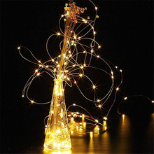 2M 20 LED Copper Wire Fairy Garland Lamp String Lights Christmas Wedding Home Party Decoration Powered By CR2032 Battery