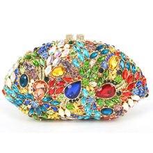 LaiSC Multi farbe Abendtasche 2016 Neueste Urlaub Partei tasche Große kristall Diamant Frauen Handtasche Damen Handtasche SC445