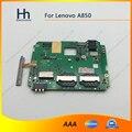 Funcionam bem para lenovo a850 mainboard motherboard placa original usado taxa de cartão com volume flex cable frete grátis