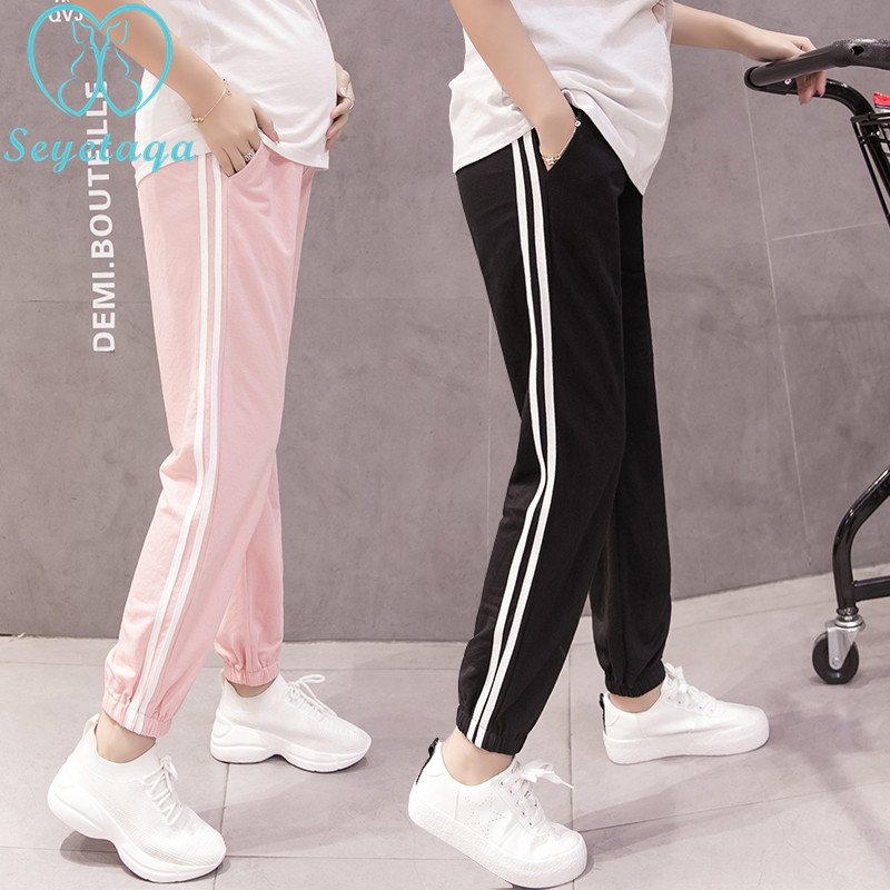 133# Spring Summer Fashion Maternity Jogger Pants Elastic Waist Belly Pants Clothes for Pregnant Women Thin Pregnancy Trousers133# Spring Summer Fashion Maternity Jogger Pants Elastic Waist Belly Pants Clothes for Pregnant Women Thin Pregnancy Trousers