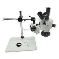 2.0mp 30fps промышленных Цифровые микроскопы Камера VGA Выход + Тринокулярный Стерео микроскоп 7X 45X Непрерывная Зума