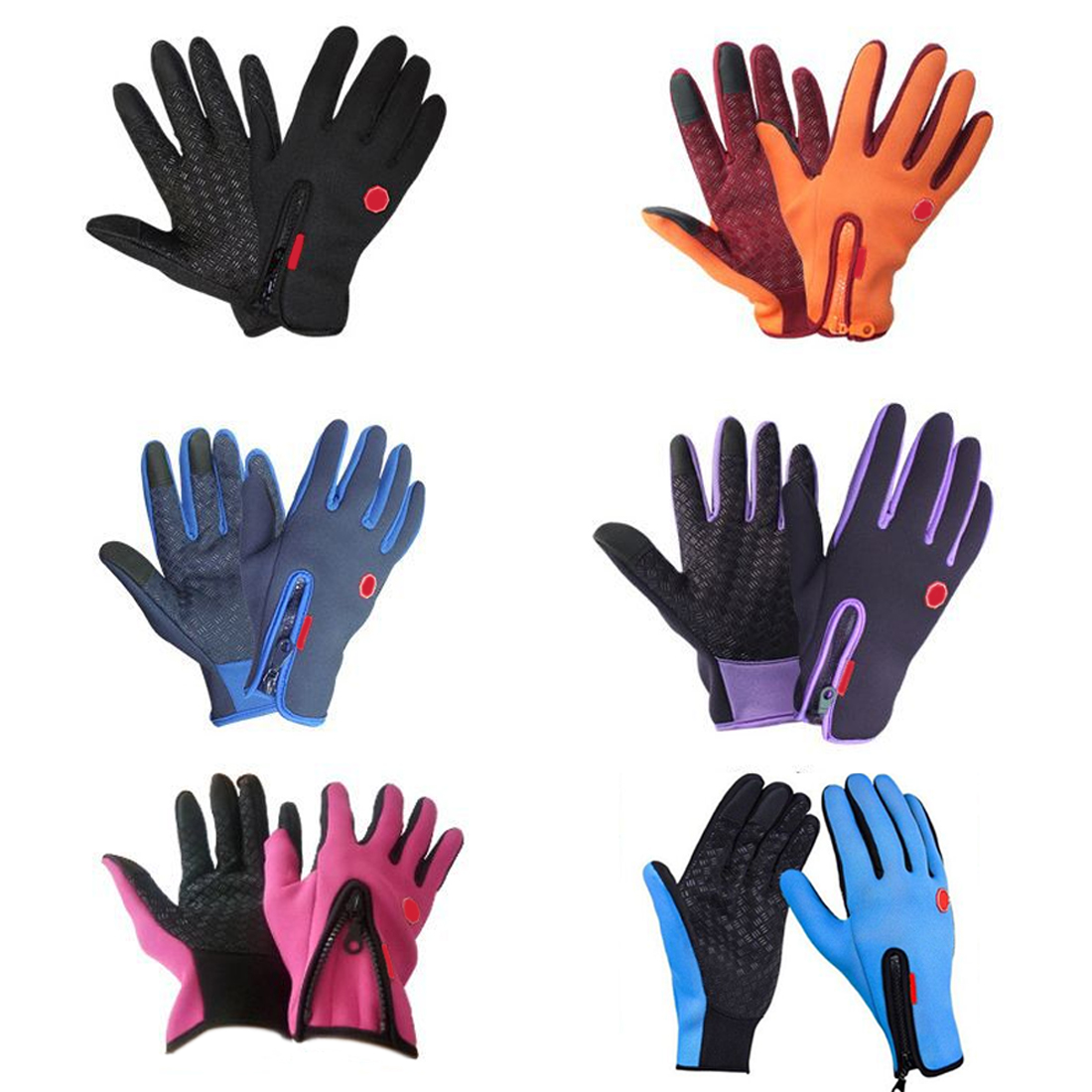 CAR-partment Motorcycle Gloves Windstopper Full Finger Ski Gloves Warm Riding Glove Outdoor Sports S M L XL Size scoyco a012 xl sporty full finger motorcycle gloves black red pair size xl