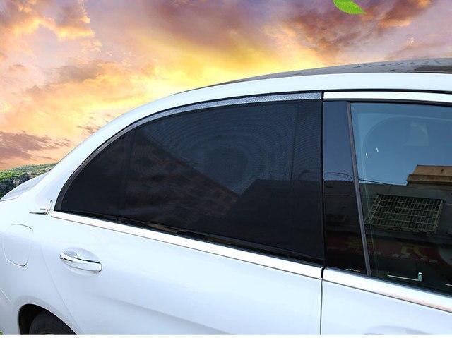 DropShipping 2Pcs Car Sun Shade UV Protection Car Curtain Car Window Sunshade Side Window Mesh Sun Visor 3