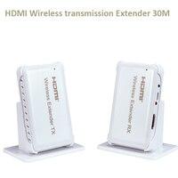 Новый Беспроводной HDMI Extender передачи до 30 м Поддержка HDMI 1.4 HDCP 1.4 3D 1080 P Совместимость с HDMI устройства HDTV