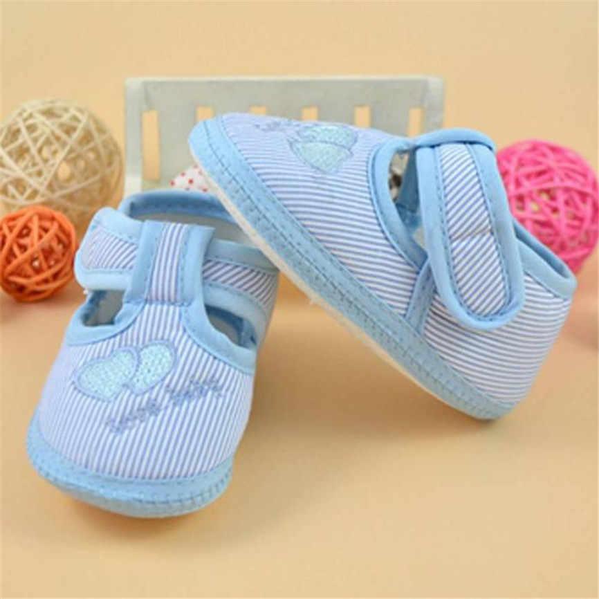 2018 รองเท้าเด็กทารกเด็กแรกเกิด Soft Sole Crib รองเท้าเด็กวัยหัดเดิน Bowknot Hook ผ้าใบรองเท้าผ้าใบรองเท้าสำหรับ 0 ~ 10M Dropshipping 0122