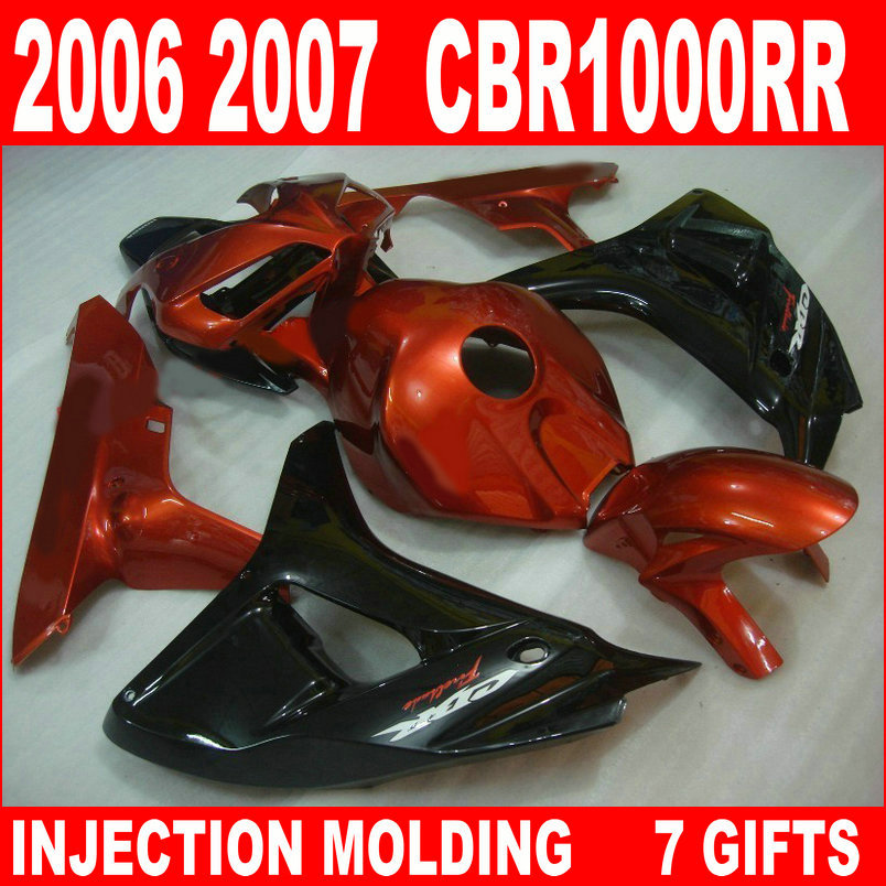New hot moto parts fairing kit for Honda CBR1000RR 06 07 wine red black injection mold fairings set CBR1000RR 2006 2007 RA16 injection mold fairing for honda cbr1000rr cbr 1000 rr 2006 2007 cbr 1000rr 06 07 motorcycle fairings kit bodywork black paint