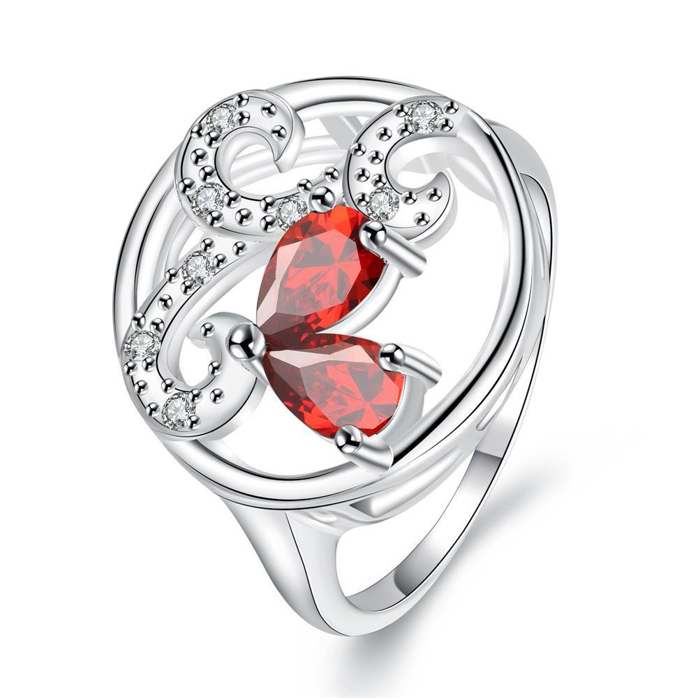 Red Stone Red Trio-curved Pendant Petite Ring Size 8 коляска 2 в 1 chicco trio stylego red passion
