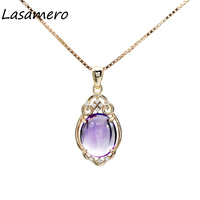 LASAMERO Rings For Women 3 0CT Round Cut Natural Diamond Necklaces 18k Yellow Gold Engagement Wedding