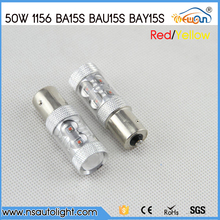 Car styling Hot CREE led-chips 50 Watt 1156 S25 P21W BA15S BAU15S BAY15S LED Unterstützungslicht 12 V 24 V auto Umkehr birne auto beleuchtung
