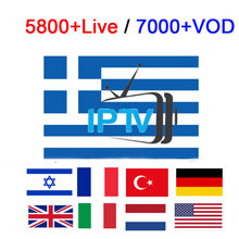 Europe Greece IPTV 5800+ Channels For Smart TV m3u Android TVIP mag Stalker US UK italy Spain Netherlands Turkey Israel IPTV(China)