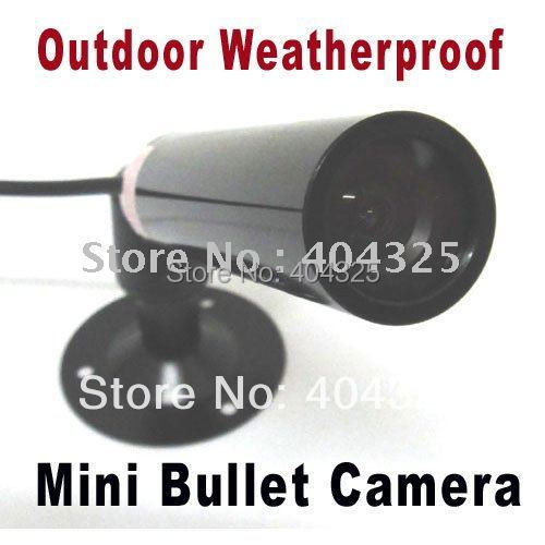 Mini SONY CCD Bullet Video Color Outdoor CCTV Security Camera mini bullet cvbs ccd camera 700tvl with headset mount for mobile surveillance security video 5v
