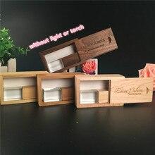 Свадебная фотография с логотипом по индивидуальному заказу, деревянная Хрустальная + деревянный корпус, usb 2,0 Версия памяти флешки