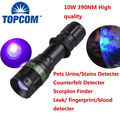 Profesional UV Flashlight with High Power 10W LED 390nm Wavelength with Variable Focus for Urine Detection / Inspection