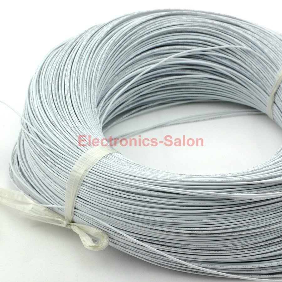 10M / 32.8FT White UL 1007 24AWG Hook up Wire, Cable.-in Wires ...