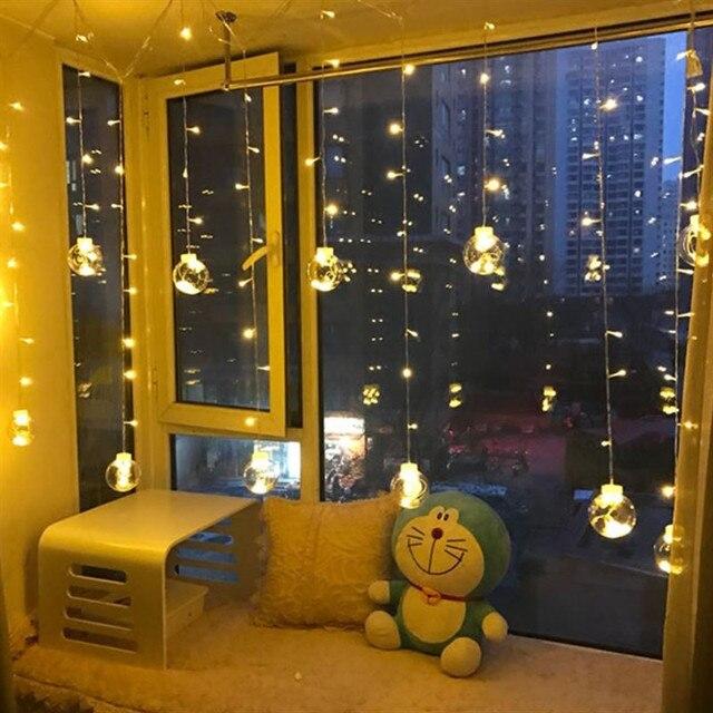 Outdoor Clear 8cm Globe Connectable Festoon LED Partyball String Fairy Light Led Christmas Lights Fairy Wedding Garden Garland