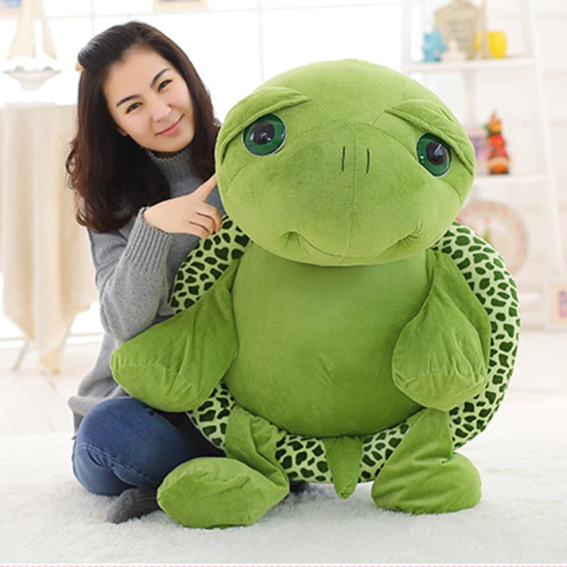 80cm 100cm Large Plush Toy Lovely Big Eyes Tortoise Soft Stuffed Animal Cushion Soft Small Sea Turtles Dolls For Kids Gift
