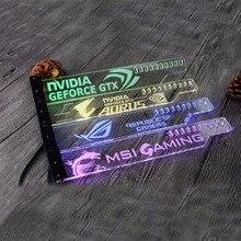 Support acrylique utilisation pour orthèse GPU carte taille 280*45*6mm utilisation pour Fix carte vidéo 5050 RGB lumière connecter AURA 4PIN 5050 RGB en tête