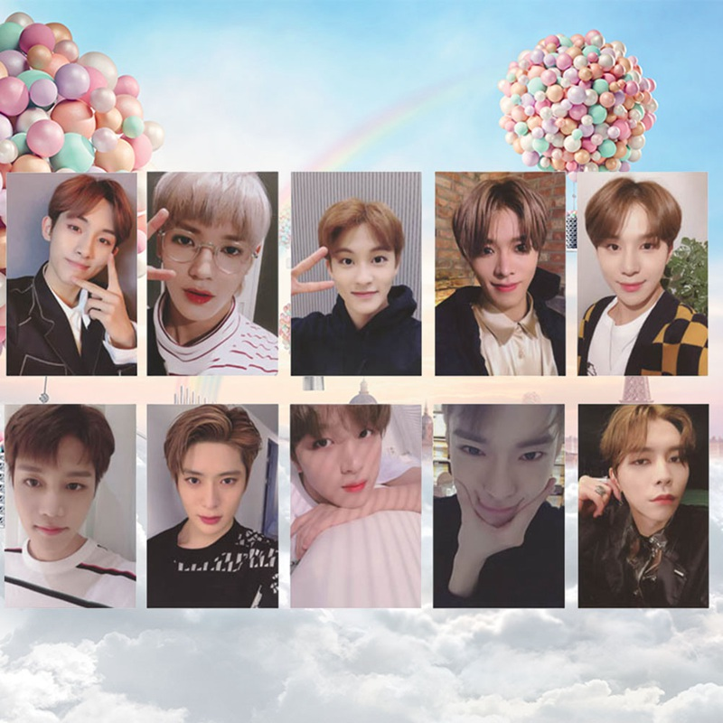 10pcs/set KPOP NCT 127 Empathy Album 2019 Mark Self Made Autograph  Photocard Paper Cards Poster ~