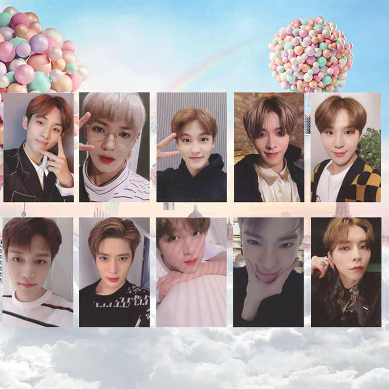 10pcs/set KPOP NCT 127 Empathy Album 2019 Mark Self Made Autograph Photocard Paper Cards Poster