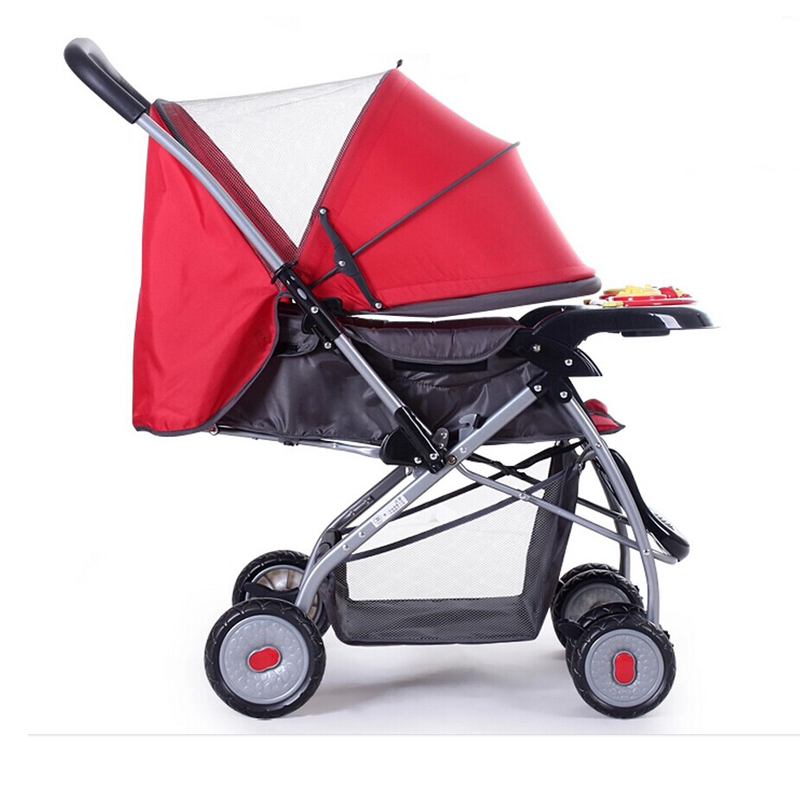 Good baby 709 baby stroller can lie down and fold the cart with four wheels