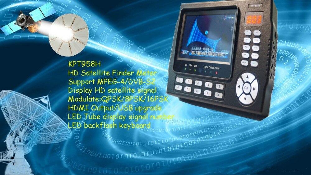 Компанией dhl 4,3 дюйма ЖК дисплей KPT 958H DVB S2 спутниковый искатель MPEG4 satfinder метр multiunction для PVR, видео плеер, камеры видеонаблюдения монитор