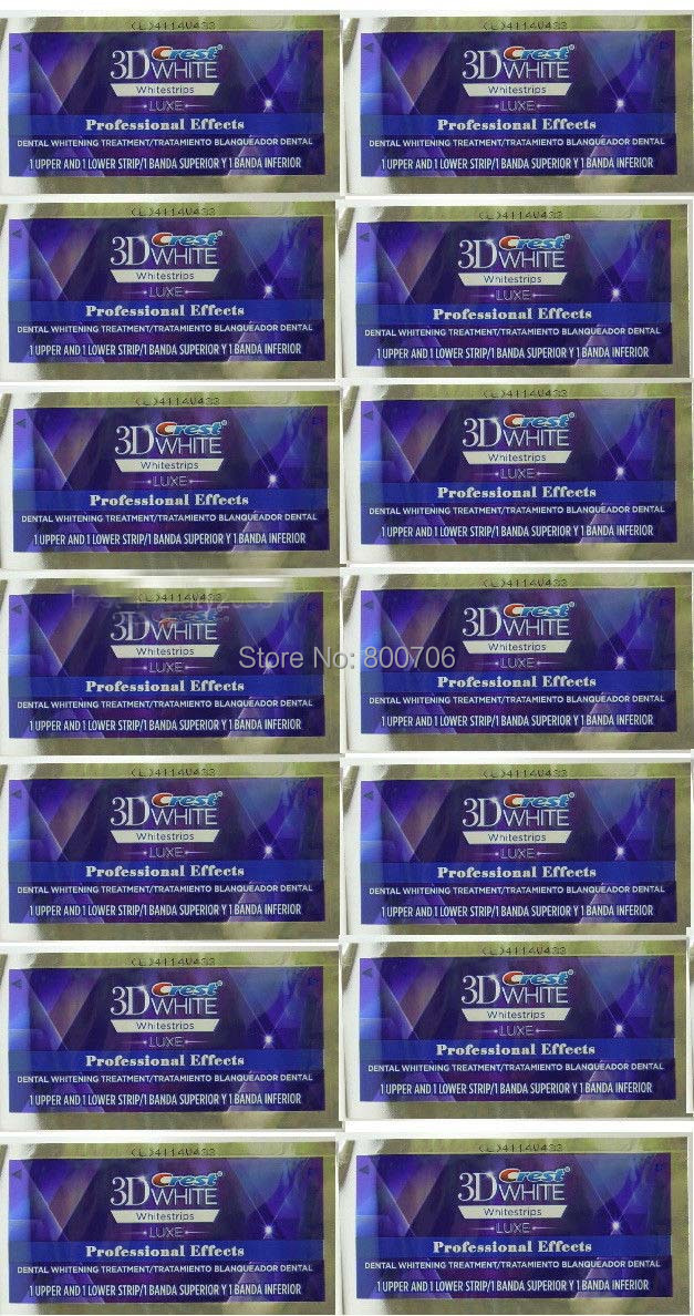 28 Strips 14 Pouch Crest 3d Whitestrips Luxe Professional Effects