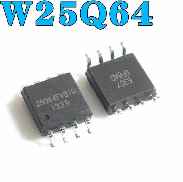 1pcs/lot 25Q64BVSIG 25Q64BVSSIG W25Q64BVSIG 25Q64 BVSIG  W25Q64 SOP8 In Stock