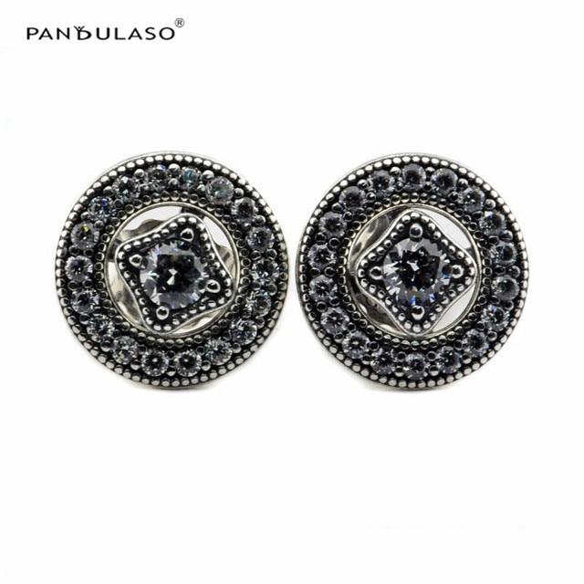 925-Sterling-Silver Stud Earrings for Women 2016 New Fashion Original Vintage Allure Earrings Silver 925 Jewelry Autumn Style