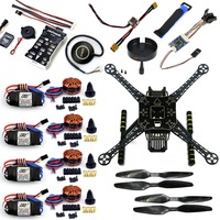 DIY RC Quadcopter FPV Aircraft S600 Drone Frame Kit PX4 PIX Flight Controller Integrate Buzzer 700kv