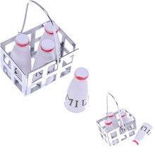 4 шт. кукольный домик бутылки молочная корзина Набор 5 шт./компл. 1/12 Кукольный дом Кухня крыльцо Радиоуправляемый квадрокоптер Декор 2,7*2*4 см миниатюрная мебель