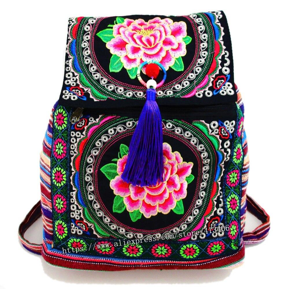 Tribal font b Vintage b font Hmong Thai Indian Ethnic Boho hippie ethnic bag rucksack font
