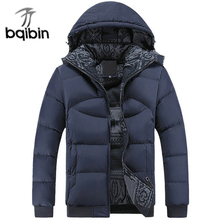 Parka Men 2017 New Arrival Winter Cotton Padded Thick Warm Jacket Coat Casual Stand Collar Male Parkas Coat 4XL Plus Size